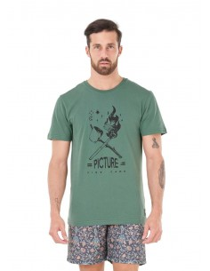 tee-shirt homme picture vert Fire camp