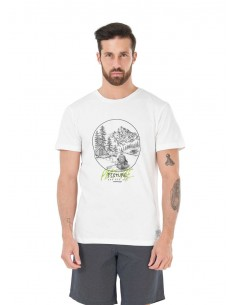 tee-shirt homme picture blanc River