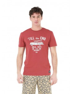 tee-shirt homme picture rouge The end