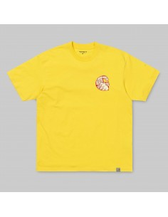 t-shirt homme carhartt jaune S/s time is up t-shirt