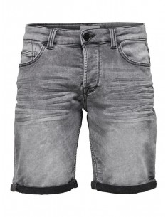 short jean's homme Only&sons gris Onsply sw grey shorts pk 2022 noos