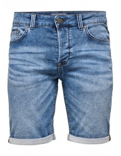short jean's homme Only&sons bleu Onsply sw blue shorts pk 2019 noos