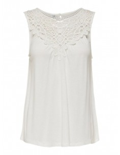 top femme only blanc Onlflovely s/l top jrs