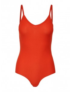 body femme only rouge Onltoffee body polyester acc