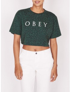 tee-shirt femme obey W novel obey 2 crop tee