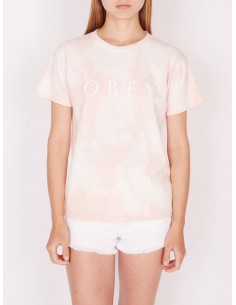 tee-shirt femme obey W novel obey 2 tee rose