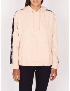sweat capuche femme obey Lockport pullover rose