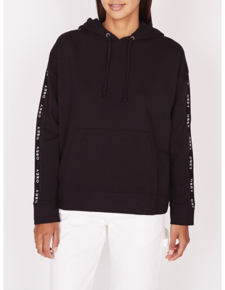sweat capuche femme obey Lockport pullover noir