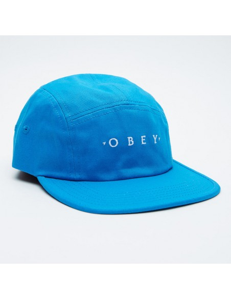 Union 5 panel hat bleu