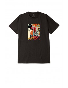 tee-shirt homme obey noir Obey drink crude oil