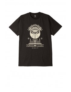 tee-shirt homme obey noir Power & glory