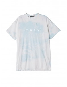 tee-shirt homme obey bleu M novel obey tee bleu