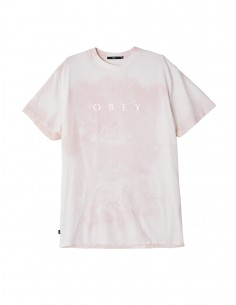 tee-shirt homme obey M novel obey tee rose