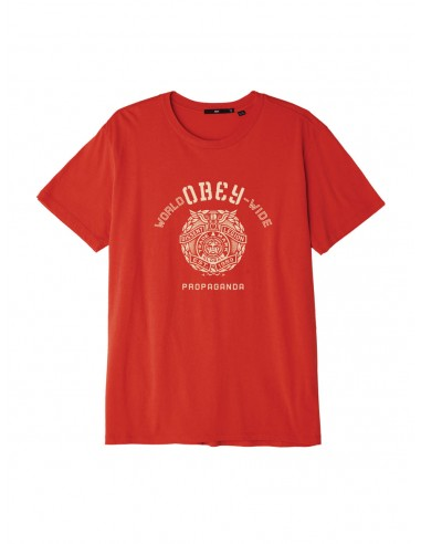 tee-shirt homme obey rouge Obey global legion