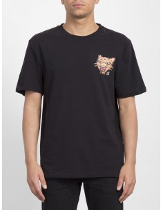 tee-shirt homme volcom noir Ozzy tiger bxy ss