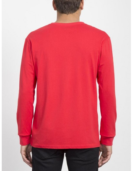 t-shirt ML homme volcom rouge Deadly stone bcs ls