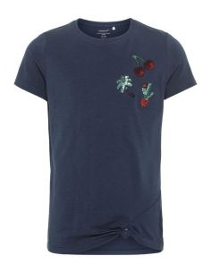 tee-shirt fille name it bleu Nkfdafina ss top