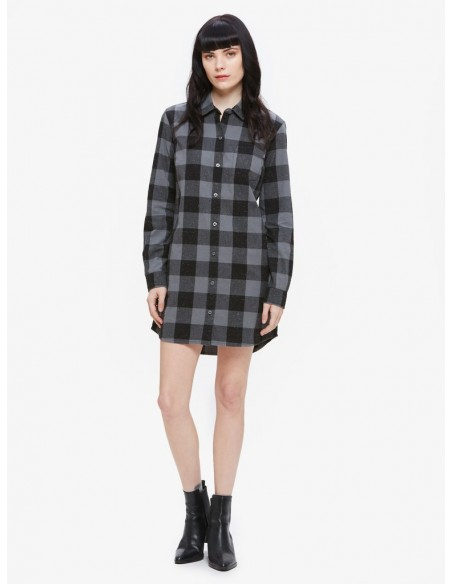 Bex shirt dress Obey chemise carreaux noir