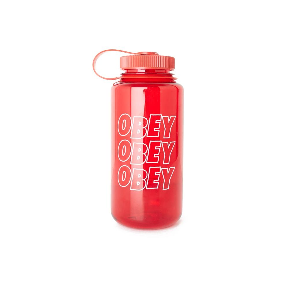 gourde plastique Obey rouge Jumble stacks nalgene water rouge