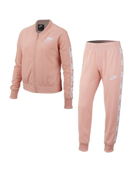 ensemble fille nike rose Girl's nike sportswear suit tricot BV2769-697