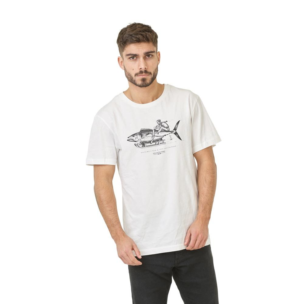 tee shirt homme picture blanc Fisher d&s