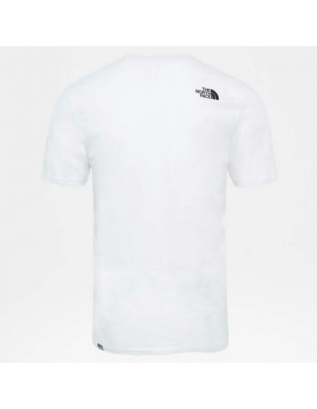t shirt homme the north face blanc M s/s easy tee tnf white