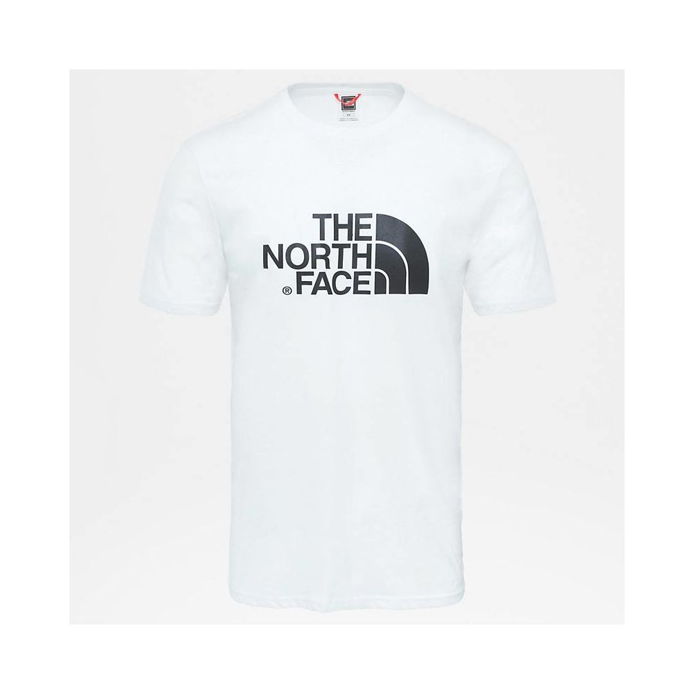 tee shirt homme the north face blanc M s/s easy tee tnf white