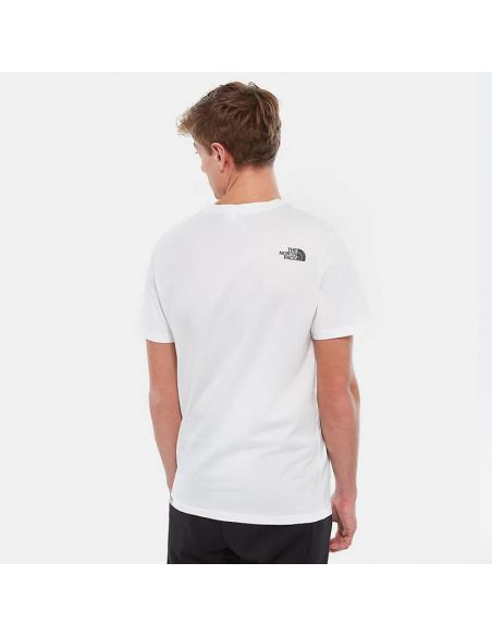 t shirt the north face blanc M s/s easy tee tnf white