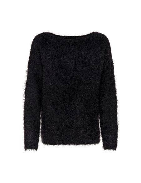 pull femme only noir Onlgaia l/s plain pullover bf knt 15164432