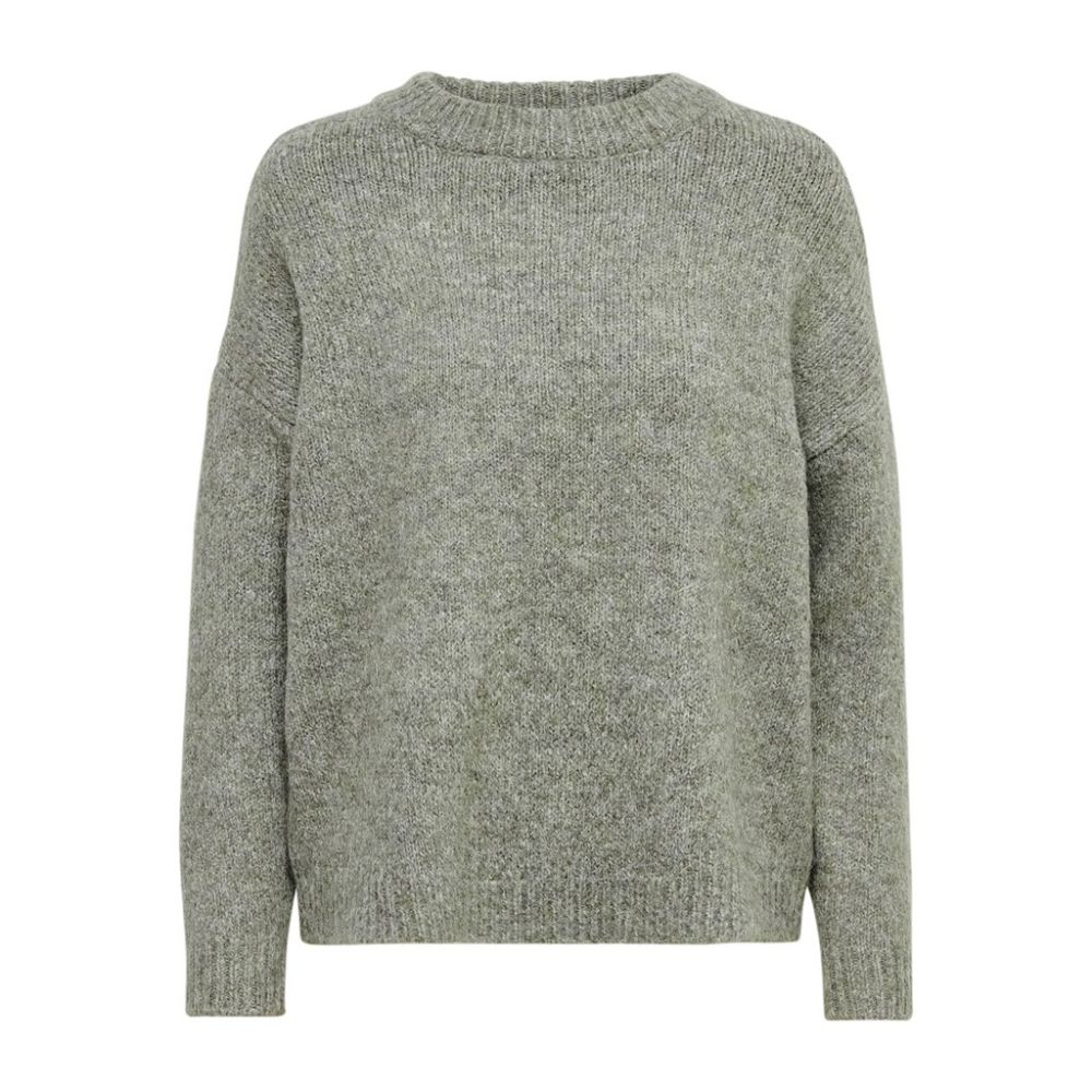 pull maille femme only kaki Onlzoey l/s pullover bf knt 15189234