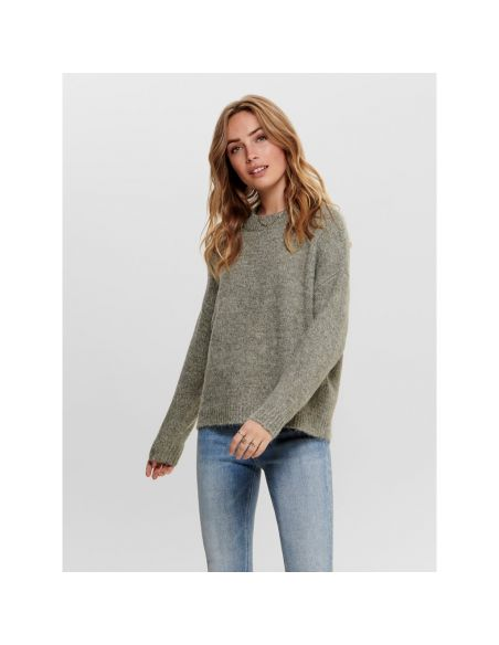 pull maille only kaki Onlzoey l/s pullover bf knt 15189234