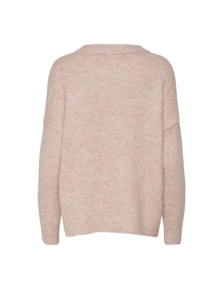 pull femme only rose Onlzoey l/s pullover bf knt 15189234