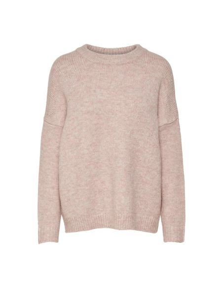 pull maille femme only rose Onlzoey l/s pullover bf knt 15189234
