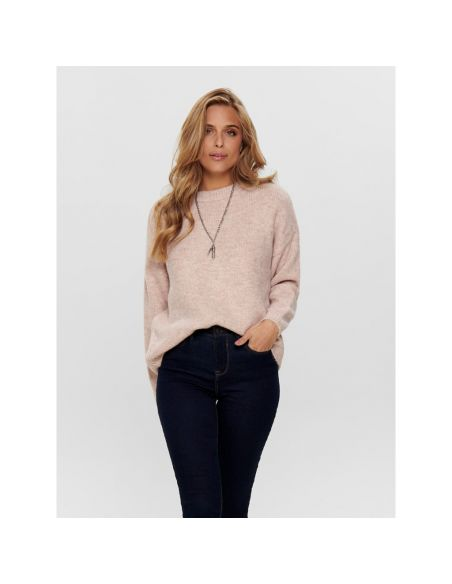 pull maille only rose Onlzoey l/s pullover bf knt 15189234