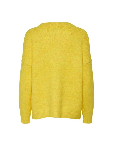 pull femme only jaune Onlzoey l/s pullover bf knt 15189234