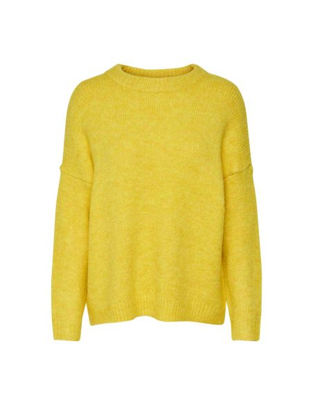 pull maille femme only jaune Onlzoey l/s pullover bf knt 15189234