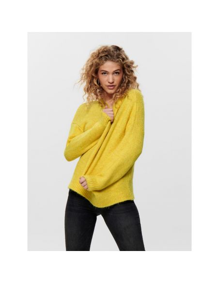 pull maille only jaune Onlzoey l/s pullover bf knt 15189234