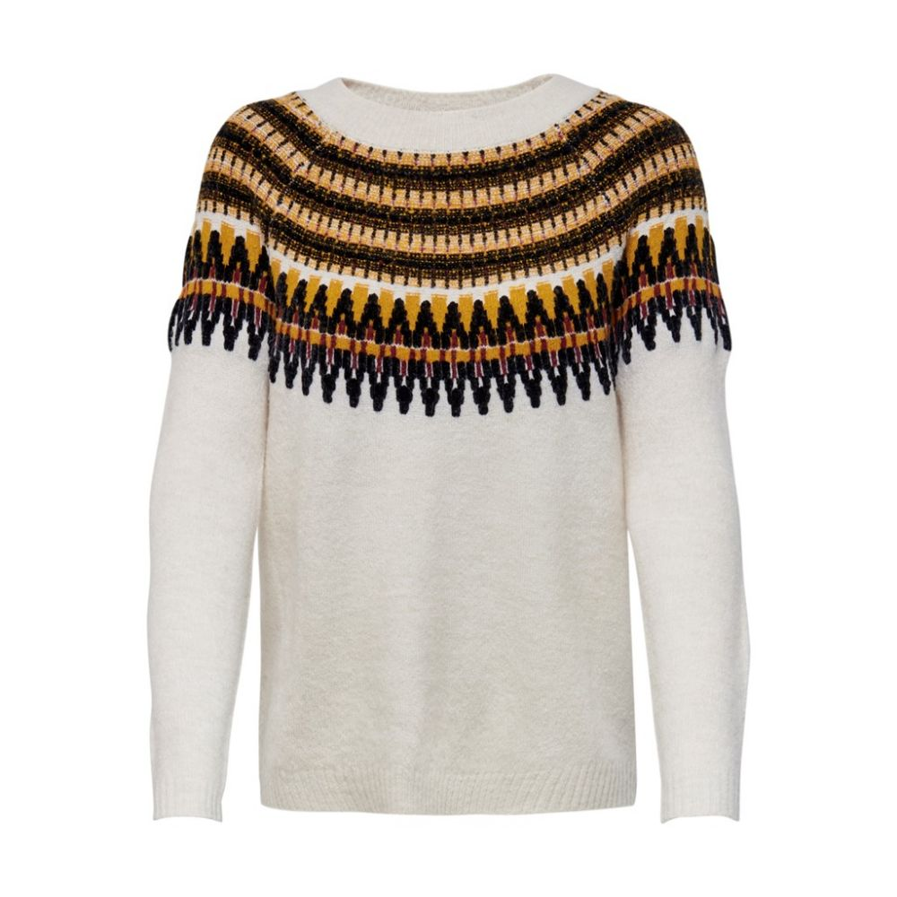 pull femme only beige Onlayoelle l/s pullover knt 15183839