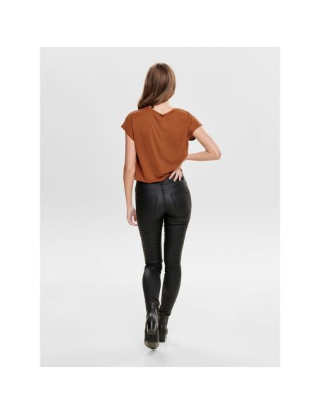 top femme only marron Onlffree s/s o-neck top jrs 15186262