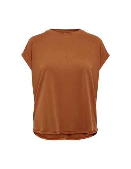 tee-shirt femme only marron Onlffree s/s o-neck top jrs 15186262