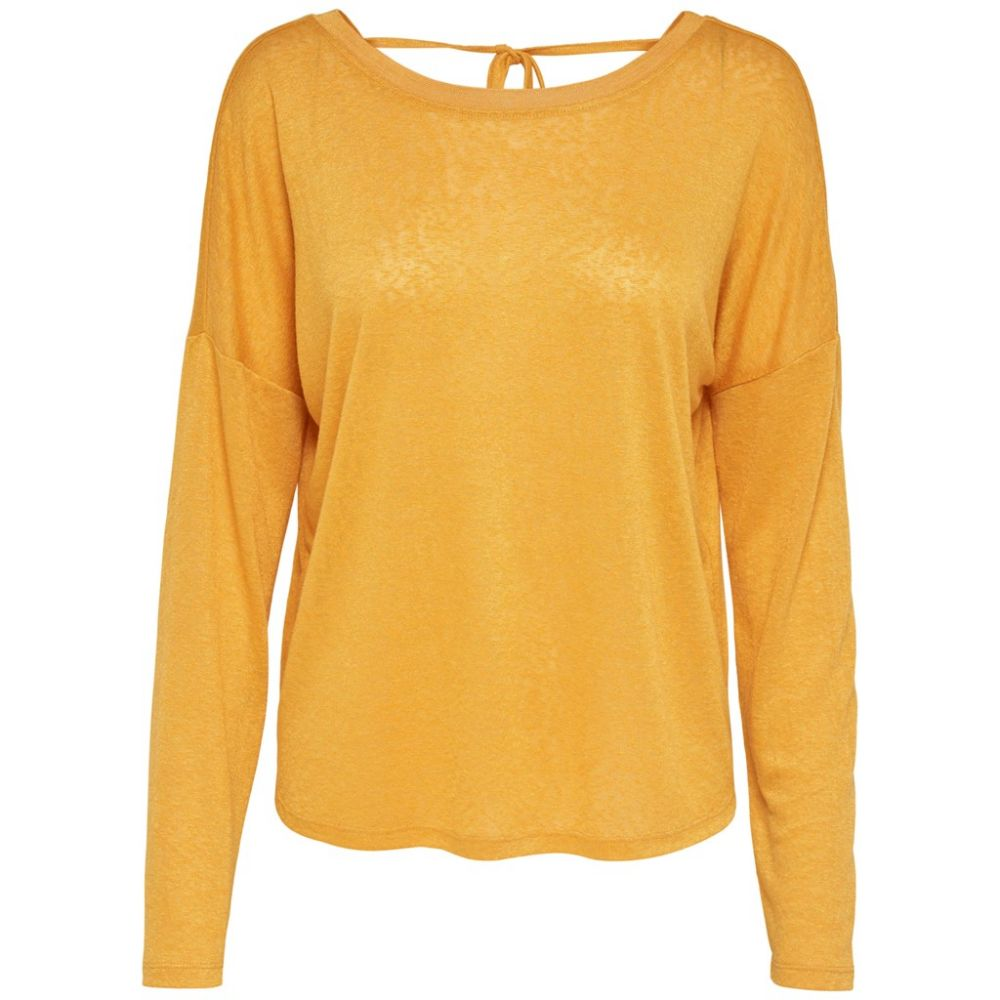 top femme only jaune Onlriley l/s top jrs 15161728