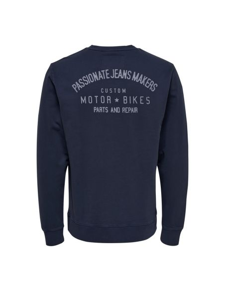 sweat only & sons bleu Onspilou artwork washed eq 4366 22014366