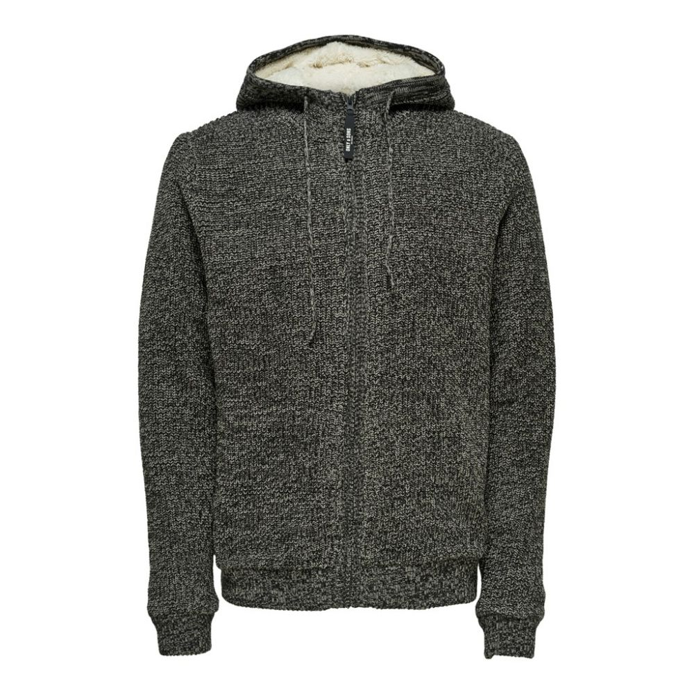 veste maille homme only & sons gris Onskenneth 7 teddy  full zip knit reg 22014134