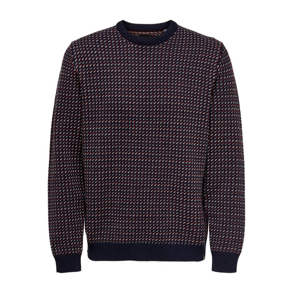 pull homme only & sons multi Onshansom 7 jaq crew neck knit 22015364