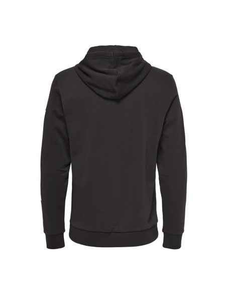 sweat capuche only & sons noir Onsnasa reg license hoodie sweat 22014471
