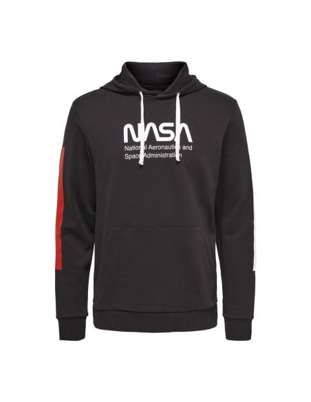 sweat capuche homme only & sons noir Onsnasa reg license hoodie sweat 22014471