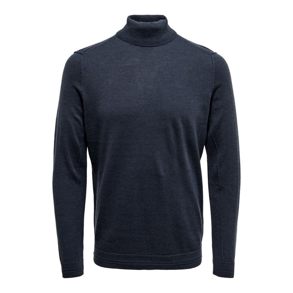 pull col roulé homme only & sons bleu Onstyler 12  m roll neck knit noos 22014163