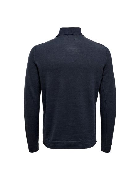 pull homme only & sons bleu Onstyler 12  m roll neck knit noos 22014163