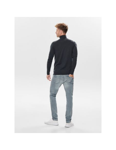 pull only & sons bleu Onstyler 12  m roll neck knit noos 22014163