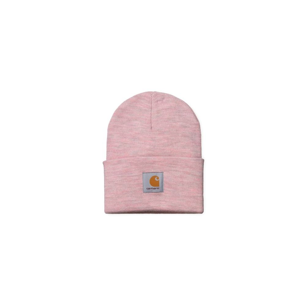 Acrylic watch hat blush heather